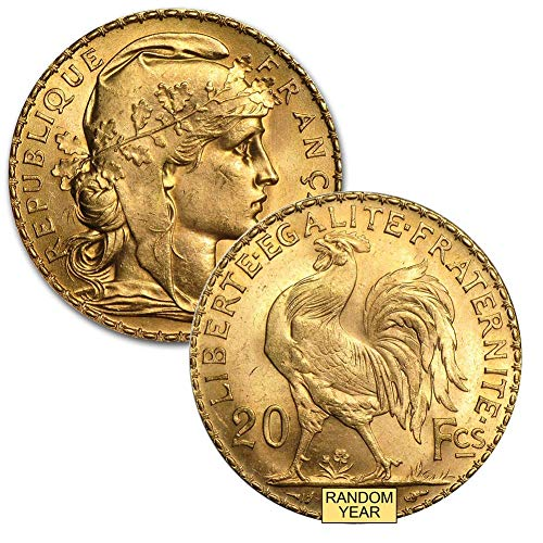 1899 FR - 1914 French Gold Rooster 20 Francs Brilliant Uncirculated