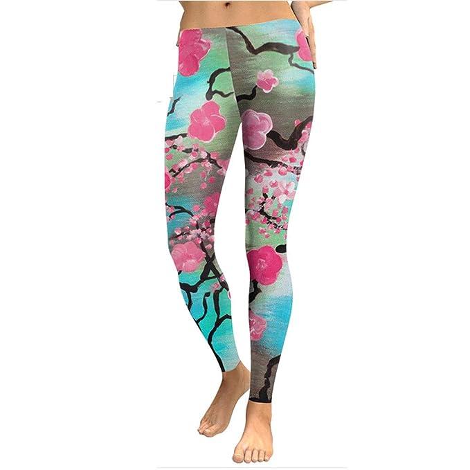 cinnamou Pantalones para Mujeres De Camuflaje Yoga Leggings Bebe ...