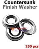 250 pcs Countersunk Finish Washer Stainless Steel Finishing Washers Finishing Cup Washers #10 Super-Deals-Shop