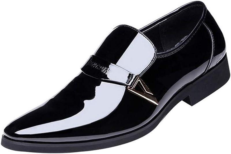 TALLA 40 EU. Juleya Zapatos de los Hombres de Negocios Zapatos de Ocio con Cordones Formales de Oxford Zapatos de Cuero de la PU de Oxford Zapatos de Vestir de Boda 38-48