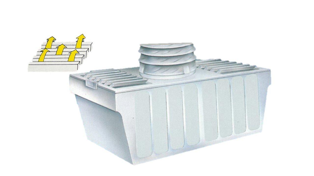 Kondensat box für ablufttrockner mit schlauch und kühlaccu