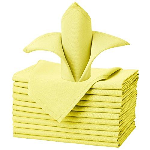 Yellow Wedding Napkins - 1