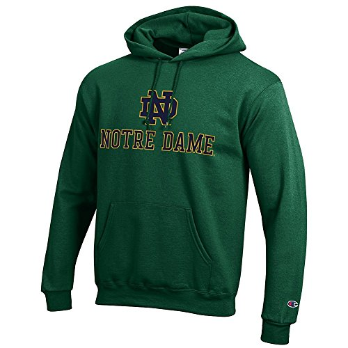 Elite Fan Shop Notre Dame Fighting Irish Hoodie Sweatshirt Green - L