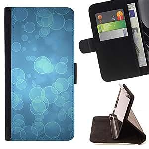 "For HTC One Mini 2 M8 MINI,S-type Blue Water buceo Océano Luz"" - Dibujo PU billetera de cuero Funda Case Caso de la piel de la bolsa protectora"