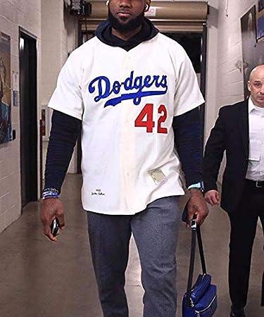 Camiseta James Dodgers No. 42, Camiseta de béisbol de combinación Familiar de 6 Colores para Parejas, Regalo de cumpleaños: Amazon.es: Deportes y aire libre