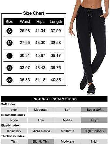 Loovoo Joggers Yoga Pants for Women High Waisted Sweatpants Casual Workout Lounge Pants Comfy Pajama Pants with Pockets
