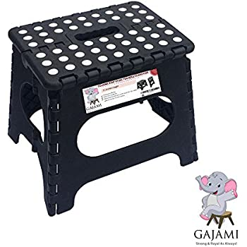 Gajami Folding Step Stool - Strong and Sturdy for Adults Kids and Toddlers u2013 11  sc 1 st  Amazon.com & Amazon.com: Super Strong Folding Step Stool - 11