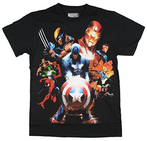 - Marvel Team-Ups Men's Team Ups Soldiers Revenge T-Shirt, Black, Small