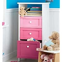 Ideal CUBIX CHEST DRAWERS 3 DRAWER STORAGE TOWER, GIRLS BEDROOM - PINK CHEST