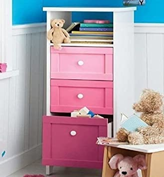 Ideal CUBIX CHEST DRAWERS 3 DRAWER STORAGE TOWER, GIRLS ...