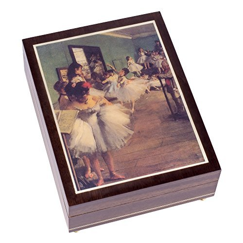 The Swan Lake Op. 20 Ballet Italian Handcrafted Hardwood Jewelry Music Box -
