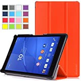 Pasonomi® Sony Xperia Z3 Tablet Compact Case - Ultra Slim Lightweight Smart-shell Stand Cover Case for Xperia Z3 8 Inch Tablet Compact (With Smart Cover Auto Wake / Sleep) (Orange)