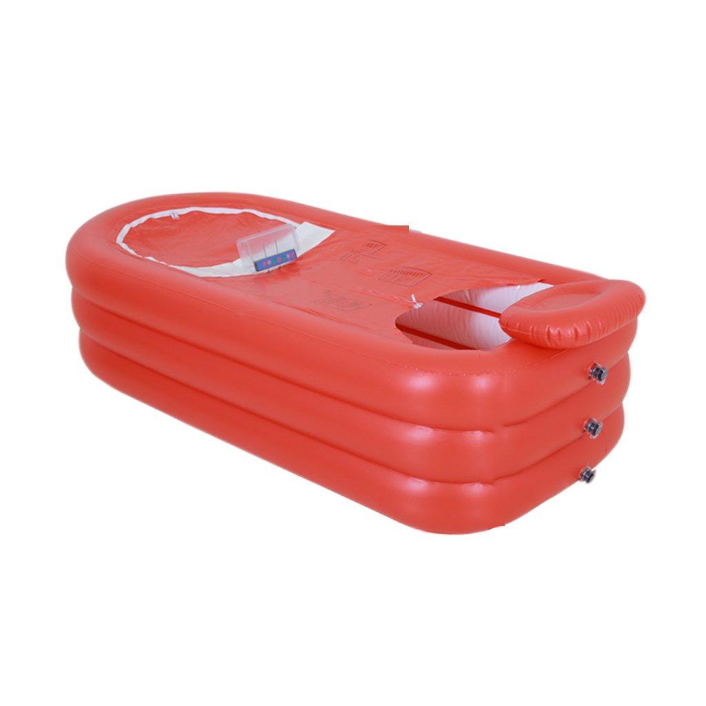 Aufblasbare Badewanne, Doppel-Badewanne Haushalts-Erwachsenen-Kunststoff Badefass zusammenklappbar Aufblasbare Badewanne ( Farbe    1 )