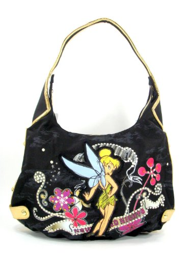 (Disney's Tinker Bell Large Canvas Hobo Purse)