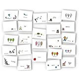 Assorted BEST SELLER's Thank You Cards Variety Pack - 24 Unique Cards & Envelopes