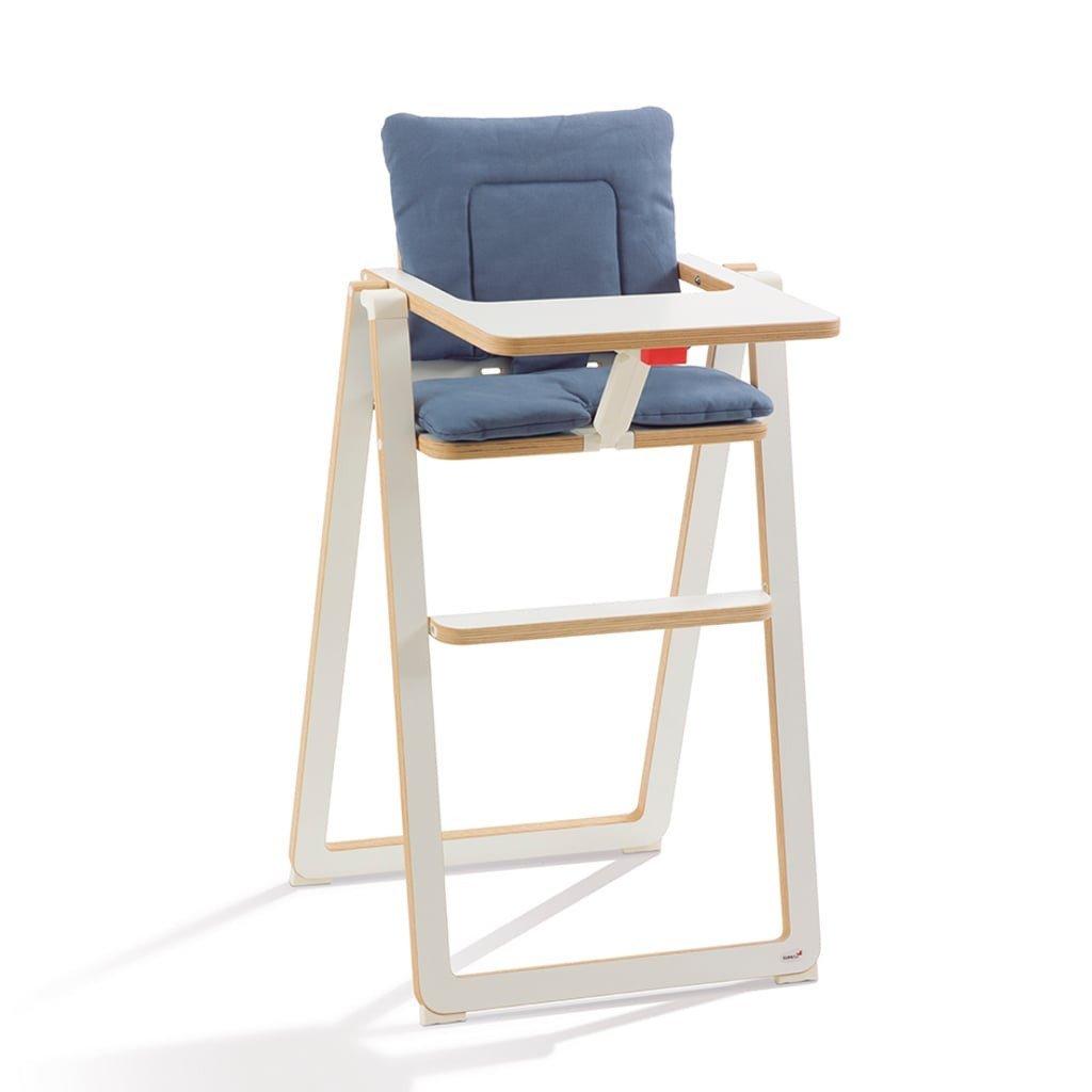 leicht zu reinigen Blue Velvet 100/% Baumwolle blau 88000062 SUPA Sitzkissen f/ür Kinder Hochstuhl SUPAflat weich