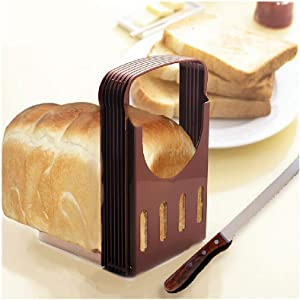 BUETERE Portable Removable Bread Bagel Slicers Perfect Bagel Cutter Every Toaster (A)