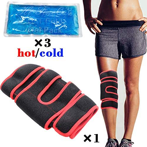 Knee Ice Pack Wrap - Cold/Hot Gel Compression Brace - Heat Support Strap for Arthritis Pain, Tendonitis, ACL, Athletic Injury, Osteoarthritis, Women, Men, Running, Meniscus and Patella Surgery