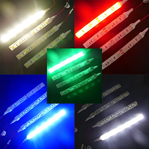 WOWLED 4X Green 5050 LED 10cm Flexible Strip Decorative Light Lamp Waterproof 12V for Car Truck SUV Boat Van Motors