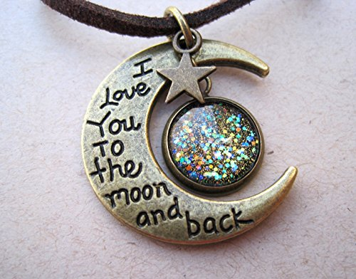 antiqued-gold-tone-glitter-glass-i-love-you-to-the-moon-and-back-pendant-necklace-brown-faux-suede