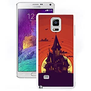 New Beautiful Custom Designed Cover Case For Samsung Galaxy Note 4 N910A N910T N910P N910V N910R4 With Weird Castle In Moon Draw (2) Phone Case