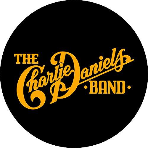 Charlie Daniels Band - Logo (Yellow On Black) - 1 1/4 - Band Charlie