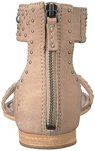 Frye Carson Women's Sandal Taupe Zip Deco Flat wzxn6qrwfB