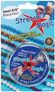 Gold 10m Pepperell Stretch 0.5mm Magic Bead and Jewelry Cord