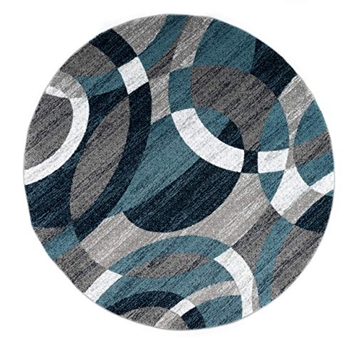 Rugshop Contemporary Modern Circles Abstract Area Rug, 6' 6