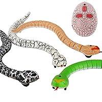 """Liberty Imports 16 """"Realistic Remote Control RC Snake Toy con controlador infrarrojo en forma de huevo (colores surtidos)"""