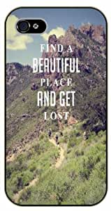 iPhone 5C Weed and dope - Find a beautiful place and get lost - black plastic case / Verses, Inspirational and Motivational