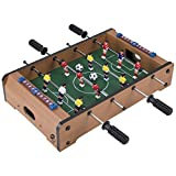 Tabletop Foosball Table- Portable Mini Table Football / Soccer Game Set with Two Balls and Score Keeper for...