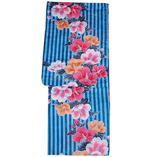 リダクターあご凍る女性用 浴衣 フリーサイズ 綿絽 レディース ゆかた 花柄