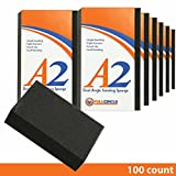 A2 Dual Angle Medium Grit Abrasive Drywall Sponges - 100 Ct. Contractor Pack