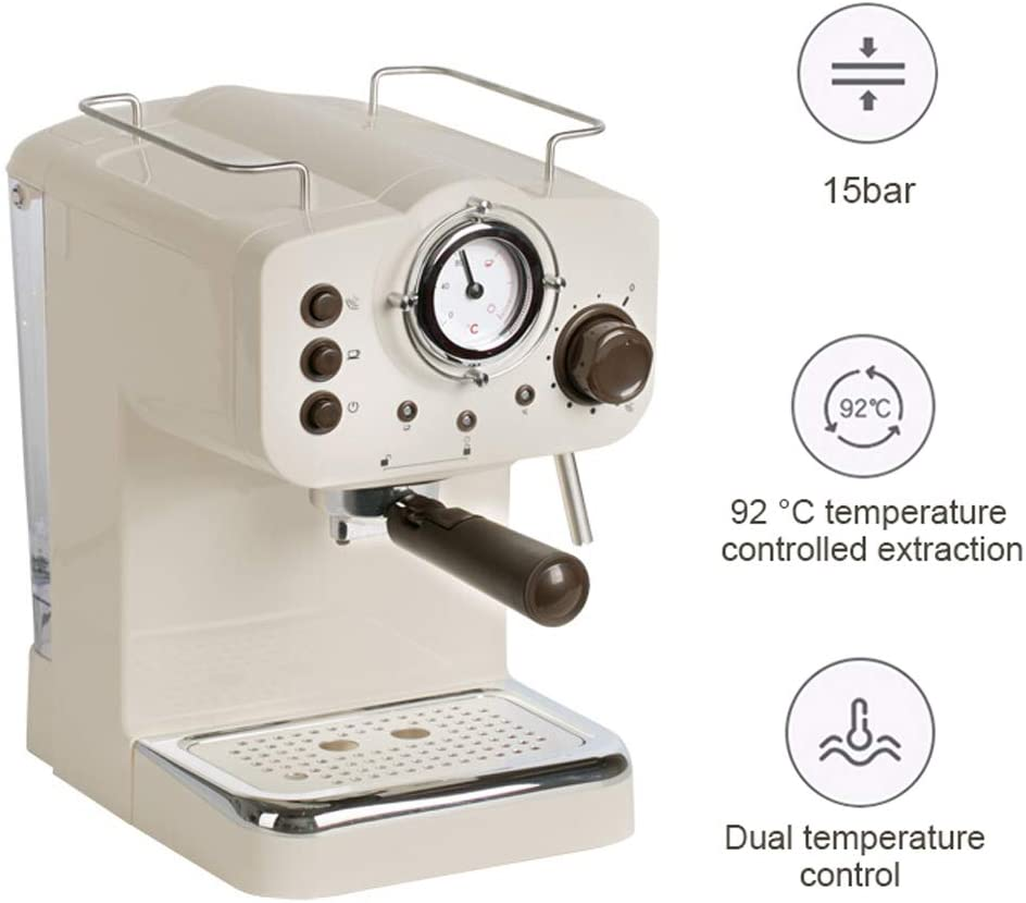 WLNKJ - Máquina de café automática, Mango de Filtro de café 2 en 1 ...