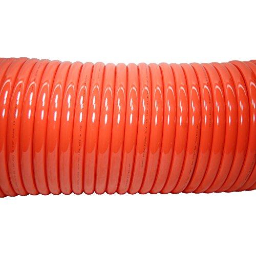 Plastair Industrial SBHB9100-6-U Copolymer Snapback Recoil Air Hose, 100' Length, 0.875'' Coil OD, 185 PSI Maximum Pressure, 0.75'' Coil ID by Plastair Industrial (Image #1)