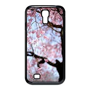 Custom Cover Case with Hard Shell Protection for SamSung Galaxy S4 I9500 case with Beautiful cherry blossoms lxa#473719