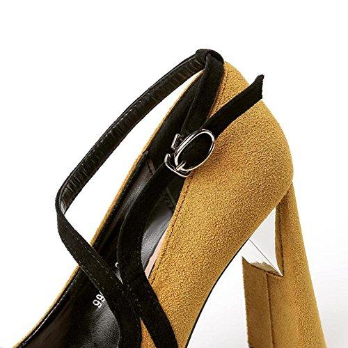 Talons 10 BoîTe L Bouche Pointu yellow Femmes YC Fight Chaussures avec De Profonde Couleur Peu Nuit Cm pxpvqE8rWw