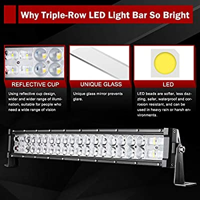 LED Light Bar Curved 22'' (24