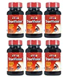 Vision Support Eye Formula Supplement - Lutein + RR-Zeaxanthin + RS - Zeaxanthin + Saffron - Protect Eyes from Blue Light with TrueVision -- 30 veggie capsules - 6 Pack
