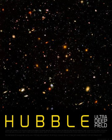 Hubble Ultra Deep Field Art Poster Print  24X30