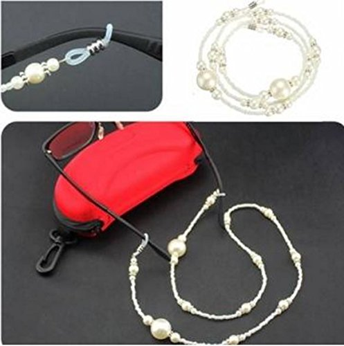Pearl Beaded Reading Sunglasses Glasses Chain Necklace Lanyard Cord Leash Holder Strap by STCorps7 - Sun Chi Machine