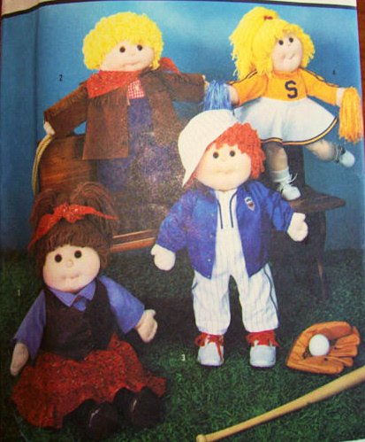 Butterick 7068 Vintage 1985 Sewing Pattern for Cabbage Patch Kids Sports Clothing 18