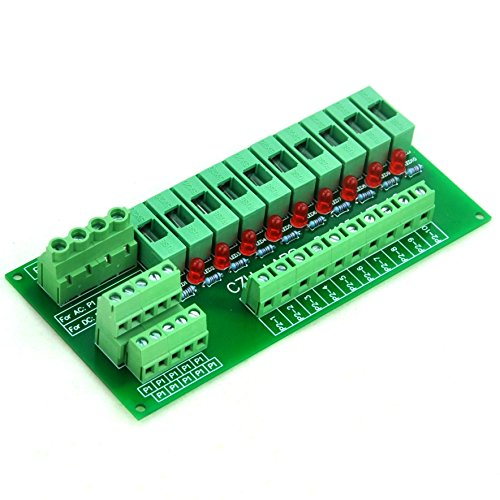 Electronics-Salon Panel Mount 10 Position Power Distribution Fuse Module Board, For AC230V . by Electronics-Salon (Image #1)