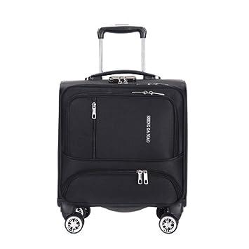 WQING Luggage Cabin Luggage Business Bag Bolsa para portátil con Ruedas Maleta de Viaje para Equipaje de Mano,Black: Amazon.es: Deportes y aire libre
