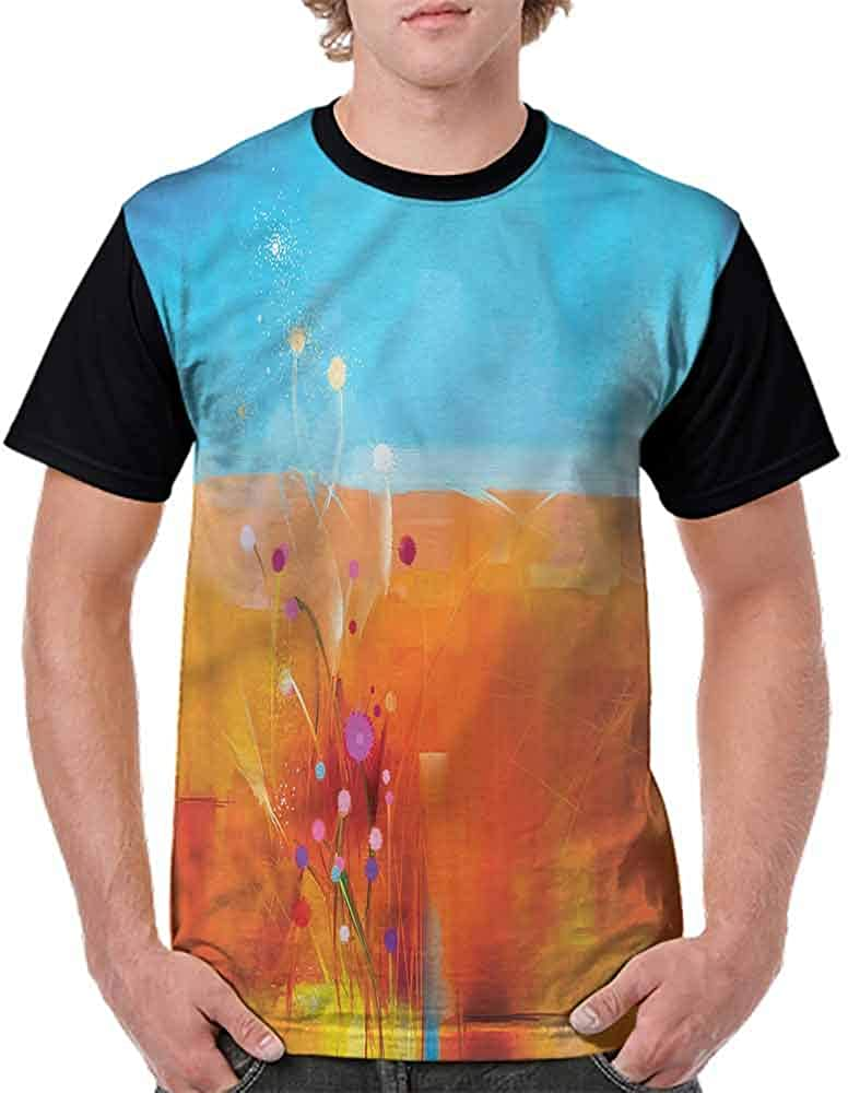 Casual Short Sleeve Graphic Tee Shirts,Flowers and Butterfly Fashion Personality Customization