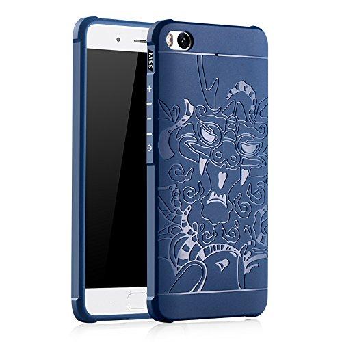 SMTR Xiaomi Mi5S Funda Silicona,Xiaomi Mi5S Funda Gel Suave TPU Case - Carcasa Resistente a los Arañazos para Xiaomi Mi5S -Azul Azul