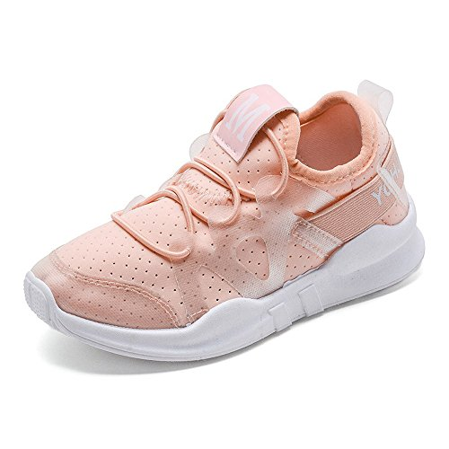 Daclay Children Casual Shoes Boy and Girl Cool Style Kids Mesh Breathable Soft Soled Running Sports Shoes (1.5 M US Little Kid, Pink)