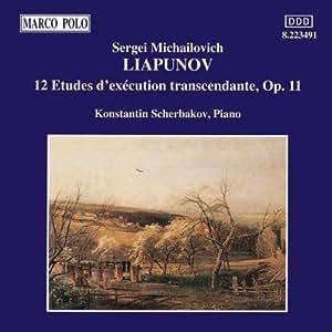 LIAPOUNOV Sergueï Mikhaïlovitch 12 Etudes op.11