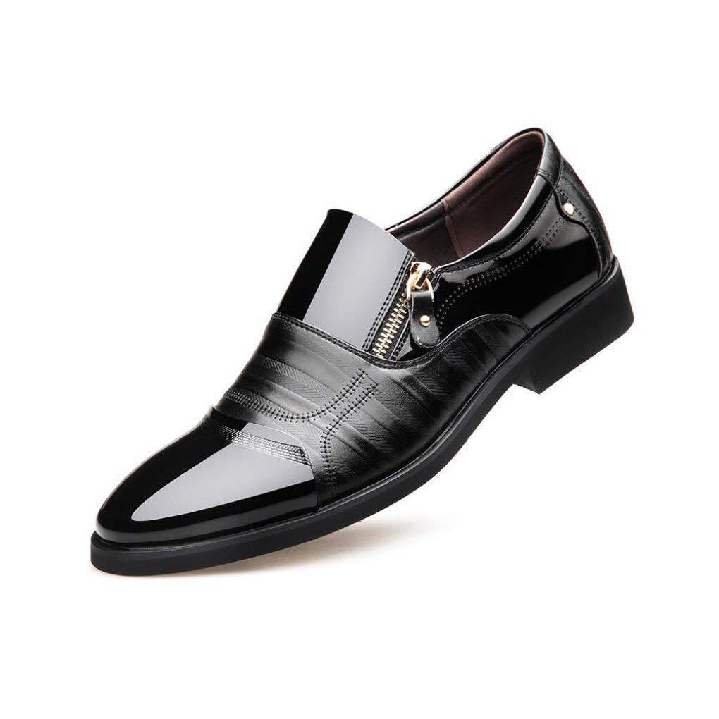Mens Formale Schuhe, 2018 Männer-Business-Kleid Lässige Schuhe, Mode Glänzende Lederspitzen Herrenschuhe Setzen Fuß,schwarz,38 (Farbe   Wie Gezeigt, Größe   Einheitsgröße)